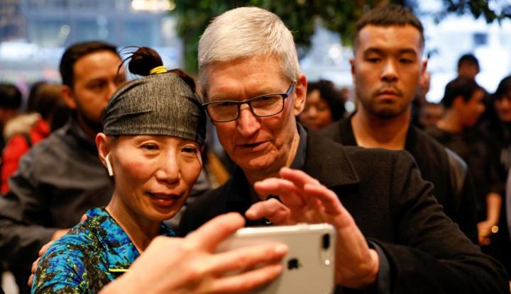 Foto Berita Saham Apple Meroket, Ini Komentar Tim Cook