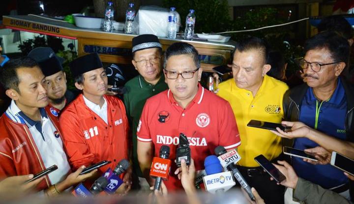 Foto Berita Pertemuan Sekjen Parpol Koalisi Jokowi Selesai, Begini Hasilnya