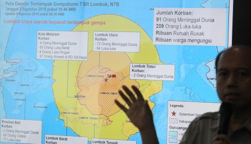 Foto Lombok Gempa Lagi, TGB: Jauhi Kawasan Perbukitan