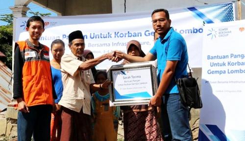 Foto Tower Bersama Group Kirim Bantuan untuk Korban Gempa Lombok