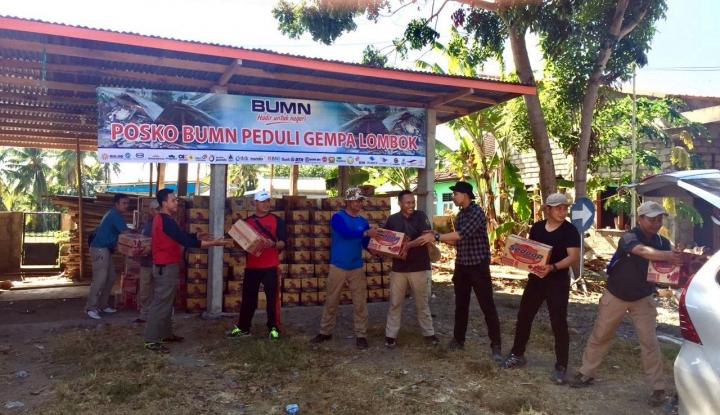 Foto Berita BUMN Bersinergi Salurkan Bantuan Korban Gempa di NTB