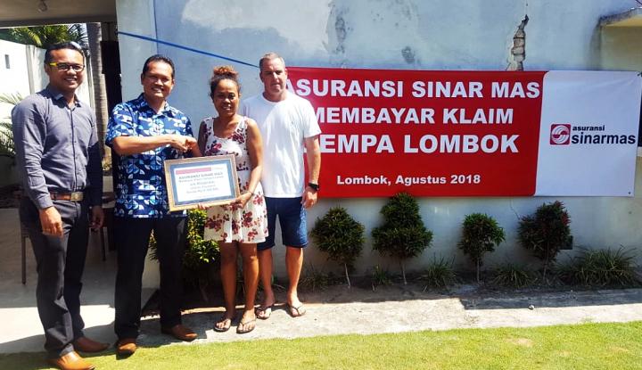 Foto Berita Asuransi Sinar Mas Bayarkan Klaim ke Korban Gempa Lombok