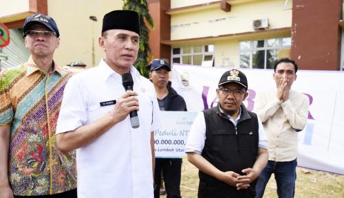 Foto Gempa Susulan Lombok Iringi Penyerahan Bantuan Pemprov Jabar