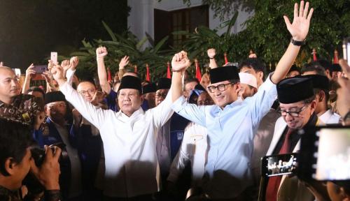 Foto Tim Prabowo-Sandi Belum Selesaikan Urusan Tim Pemenangan Nasional