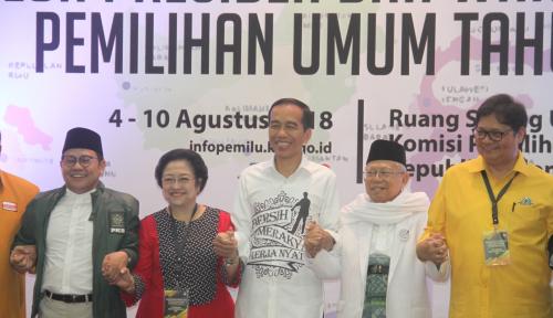 Foto Cara Pendukung Jokowi-Ma'ruf di Sumut, Nonton Debat Pilpres 'Keren'