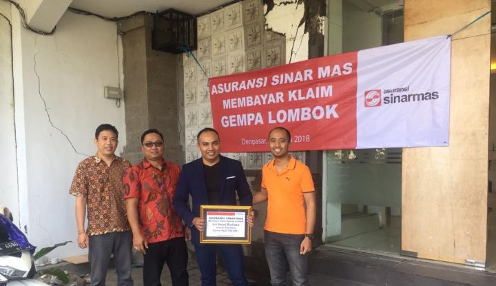 Foto Berita Asuransi Sinar Mas Bayar Klaim Akibat Gempa Lombok di Bali