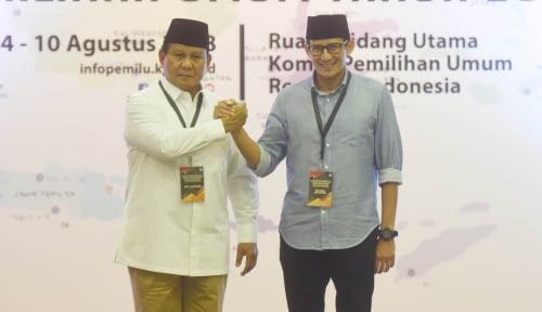 Foto Prabowo-Sandi Hindari Arak-Arakan Saat Pengundian No Urut