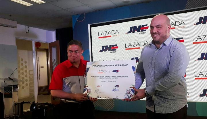 JNE Sediakan 500 Titik Fasilitas Non Tunai bagi Penjual Lazada