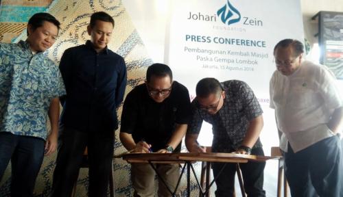 Foto Johari Zein Foundation Bangun Masjid Korban Gempa di Lombok
