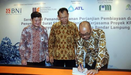 Foto IIF dan BNI Kerja Sama Bangun Proyek SPAM Bandar Lampung