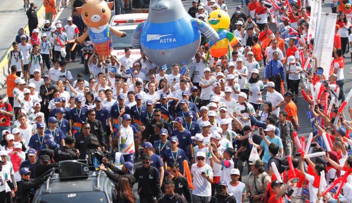 Foto Berita Jelang Pembukaan Asian Games, Jalur Dekat FX Sudirman Ditutup