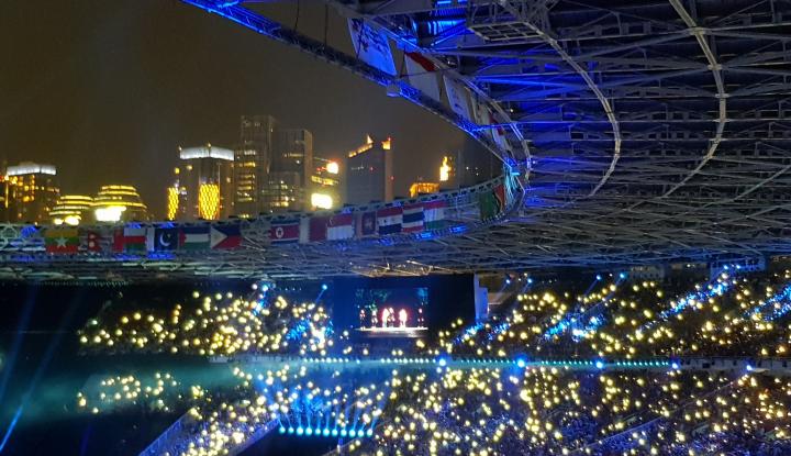 Foto Berita Pembukaan Asian Games: