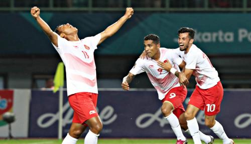 Foto Bantai Hong Kong 3-1, Timnas Garuda Jadi Juara Grup A