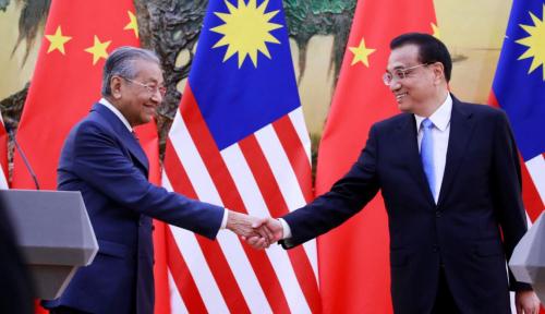 Foto Mahathir Batalkan Proyek Kerja Sama Infrastruktur dengan China