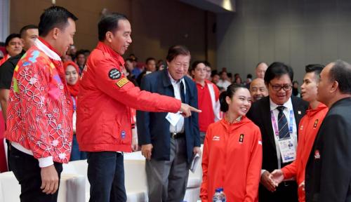 Foto Presiden Kemungkinan Tidak Hadiri Penutupan Asian Games