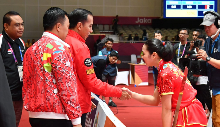 Foto Berita Duh, Sumringahnya Pak Jokowi Asian Games Lampaui Target