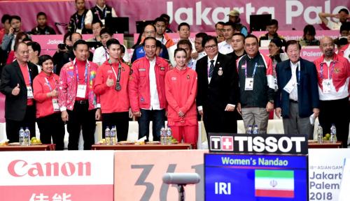Foto Jokowi Hobi Nonton Pertandingan Asian Games