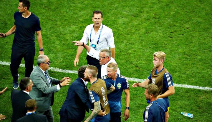 Foto Berita Pelatih Swedia Murka atas Selebrasi Kemenangan Jerman