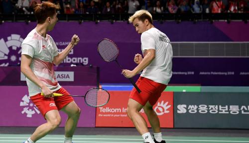 Foto Membanggakan, Kevin/Markus Juarai Denmark Open