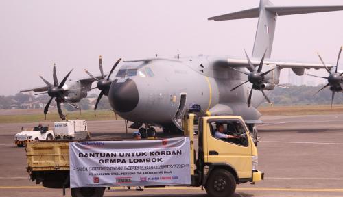 Foto Kecewa, Pegasus Gagal Terbangkan Bantuan Gempa Lombok.