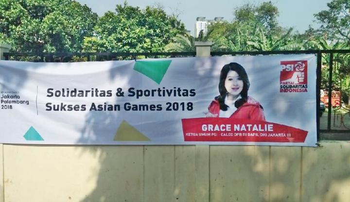 Foto Berita Gara-Gara Spanduk Asian Games 2018, PSI Dipanggil Bawaslu