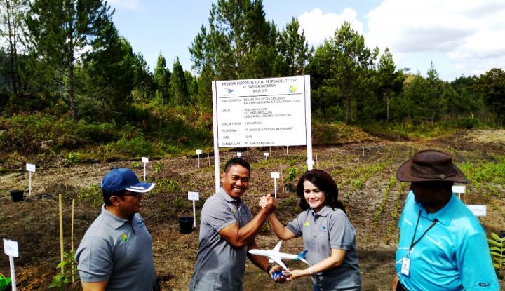 Garuda Tanam 5 Ribu Bibit Pohon di Area Danau Toba - Warta Ekonomi