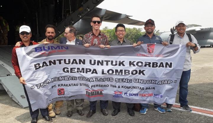Foto Berita Adanya Bencana di Lombok, BUMN Sinergi Kirimkan 33 Ton Material Bangunan
