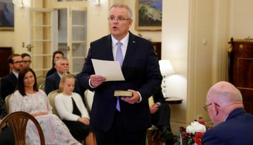 Foto PM Scott Morrison Dikecam Parlemen Australia, Indonesia Disebut-sebut
