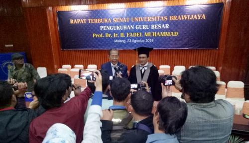 Foto 3 Rekomendasi Fadel Saat Pengukuhan Guru Besar Unibraw