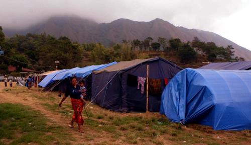 Foto Bhinneka Life Bangun 30 Rusuk untuk Korban Gempa Lombok