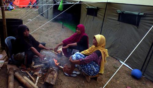 Foto ITB Bangun Geodesic Dome untuk Korban Gempa Lombok