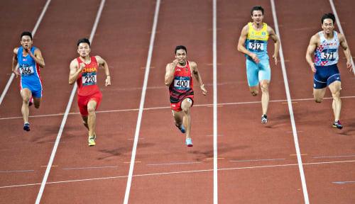 Foto Meski Gagal di Final, Capaian Zohri Bikin Bangga Lho!