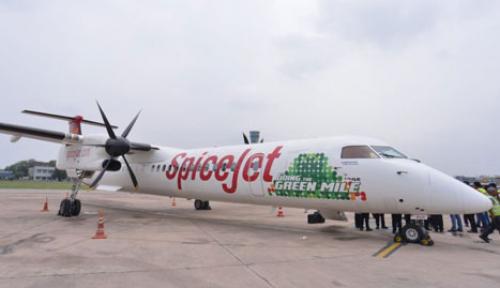 Foto India Uji Coba Pesawat Berbahan Bakar Biofuel