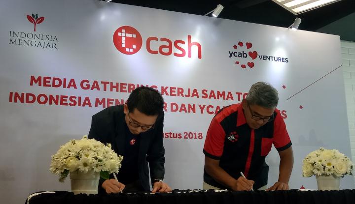 Foto Berita Akselerasi Less Cash Society-Dukung UKM, T-Cash Jalin Kerja Sama dengan YCAB Venture