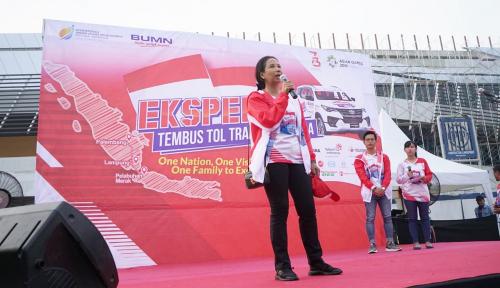 Foto Menteri Rini Ekspedisi Tembus Tol Trans Sumatera