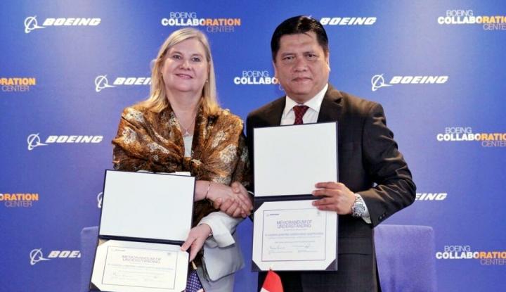 Foto Berita Dorong Industri Dirgantara, PTDI Gaet Boeing