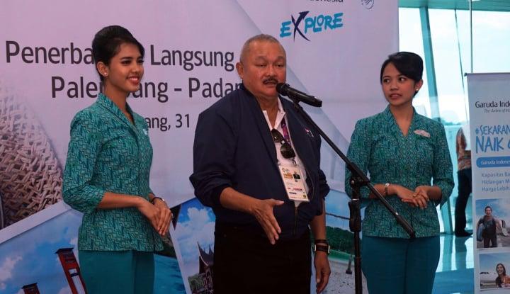 Foto Berita Resmi, Garuda Buka Rute Penerbangan Palembang-Padang