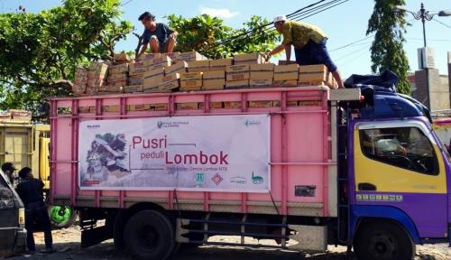 Foto Pusri Salurkan Bantuan untuk Korban Gempa Lombok