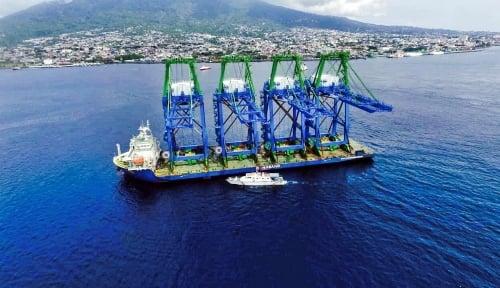 Foto Triwulan I 2019, Pelindo IV Operasikan Kendari New Port