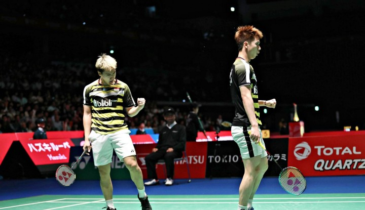Foto Berita Duo Minions Keok di Final France Open