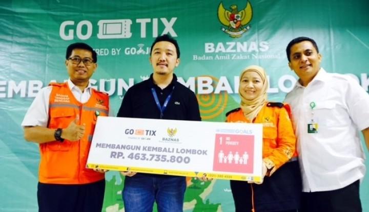 Baznas dan Go-Tix Salurkan Bantuan Rp463,7 Juta untuk Lombok - Warta Ekonomi