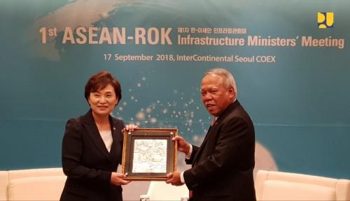 Foto Menteri Basuki Bahas Kerja Sama dengan Molit Korea di Bidang Infrastruktur