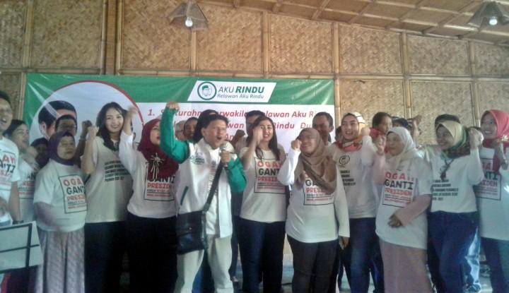 Foto Berita Lagi, Relawan Aku Rindu Dukung Jokowi Dua Periode
