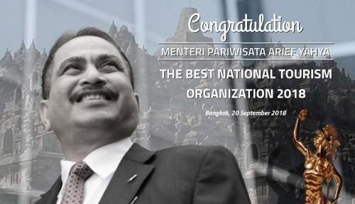 Foto Menteri Arief Yahya Terpilih Sebagai The Best Ministry of Tourism