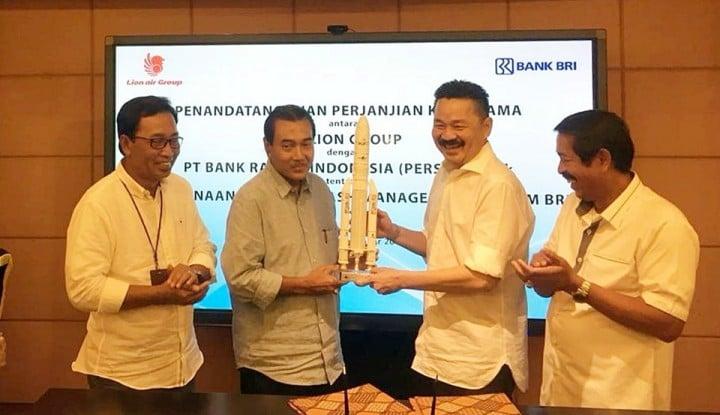 Lion Air Tunjuk BRI Sebagai Mitra Pengelola Cash Management System - Warta Ekonomi