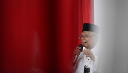 Foto Selagi Jokowi Bertugas, Ma'ruf Amin Resmikan Rumah Kerja