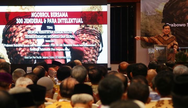 Foto Berita 300 Jenderal Ikut Perang Bersama Prabowo, Jokowi Jadi Pakai Sersan?