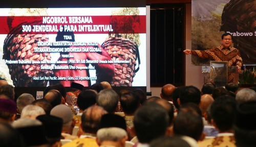 Foto 300 Jenderal Ikut Perang Bersama Prabowo, Jokowi Jadi Pakai Sersan?