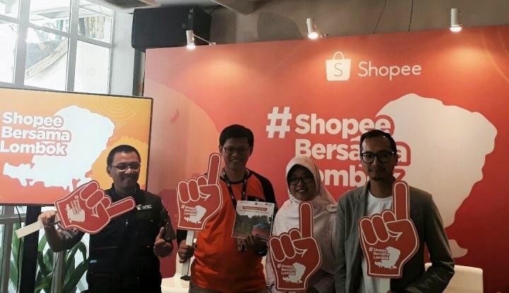 Foto Berita Gandeng 3 Lembaga Kemanusiaan, Shopee Ajak Pengguna Peduli Lombok