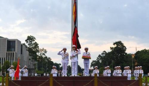 Foto Vietnam Berikan Penghormatan Terakhir Kepada Mendiang Presiden Tran Dai Quang